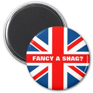 British flag,British humour 2 Inch Round Magnet