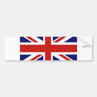 British flag bumper sticker