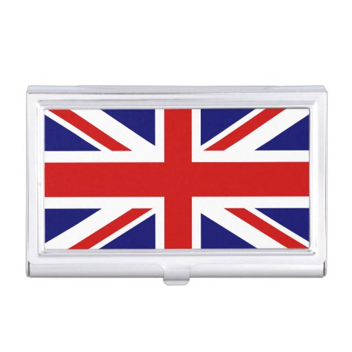 British flag business card holder union jack zazzle for Union made business cards
