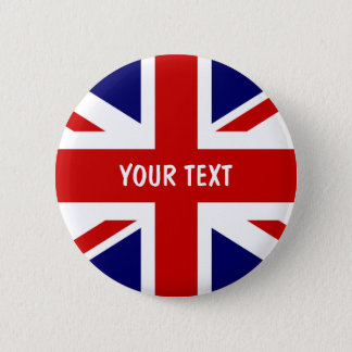 British flag buttons | Personalized Union Jack