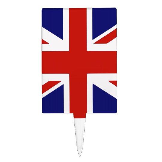 British flag cake topper