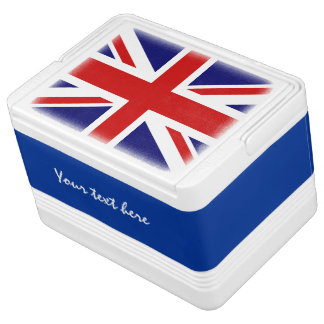 British flag can cooler box with Union Jack design Igloo Drink Cooler
