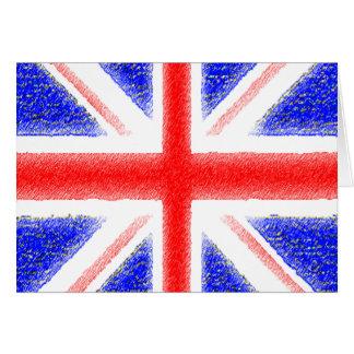 British Flag Stationery Note Card