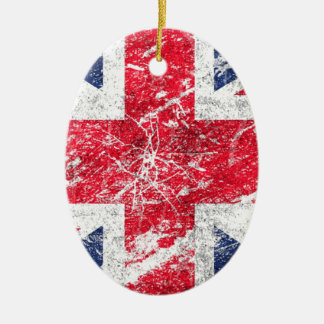 British Flag Ceramic Ornament