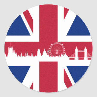 British Flag Classic Round Sticker
