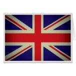 British flag design greeting card
