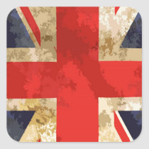 British Flag Design Square Sticker