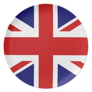 British flag dinner plates | Union Jack design