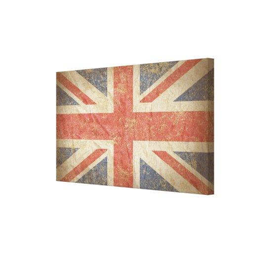 British Flag Distressed Canvas Print