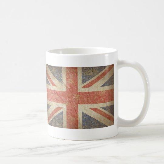 British Flag Distressed Coffee Mug