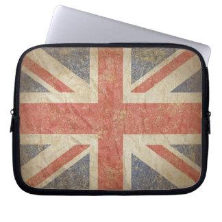British Flag Distressed Laptop Computer Sleeves