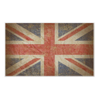 British Flag Distressed Poster
