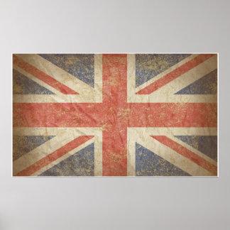 British Flag Distressed Poster