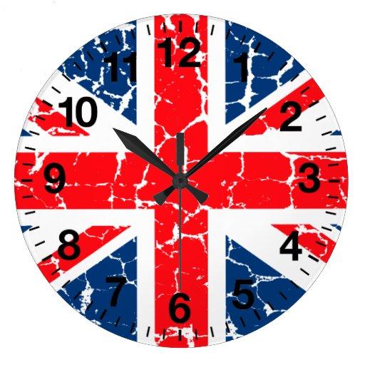 British Flag Distressed Wall Clocks