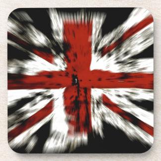 British Flag Explosion Effect Beverage Coasters