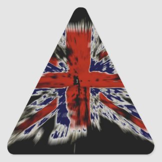 British Flag Explosion Effect Triangle Sticker