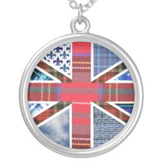 British Flag Fabric Patchwork Pattern Union Jack Pendants