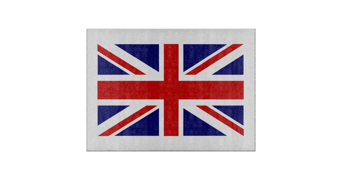 British Flag Glass Cutting Board Union Jack Icon