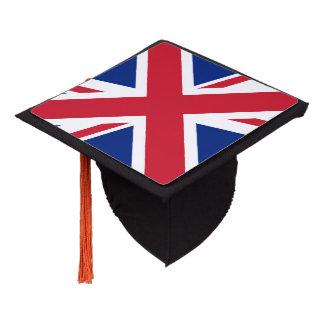British flag graduation cap topper