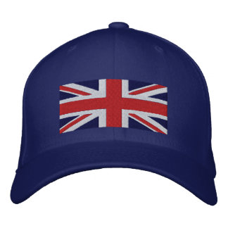 British Flag Great Britain Side Logo Union Jack Embroidered Baseball Cap
