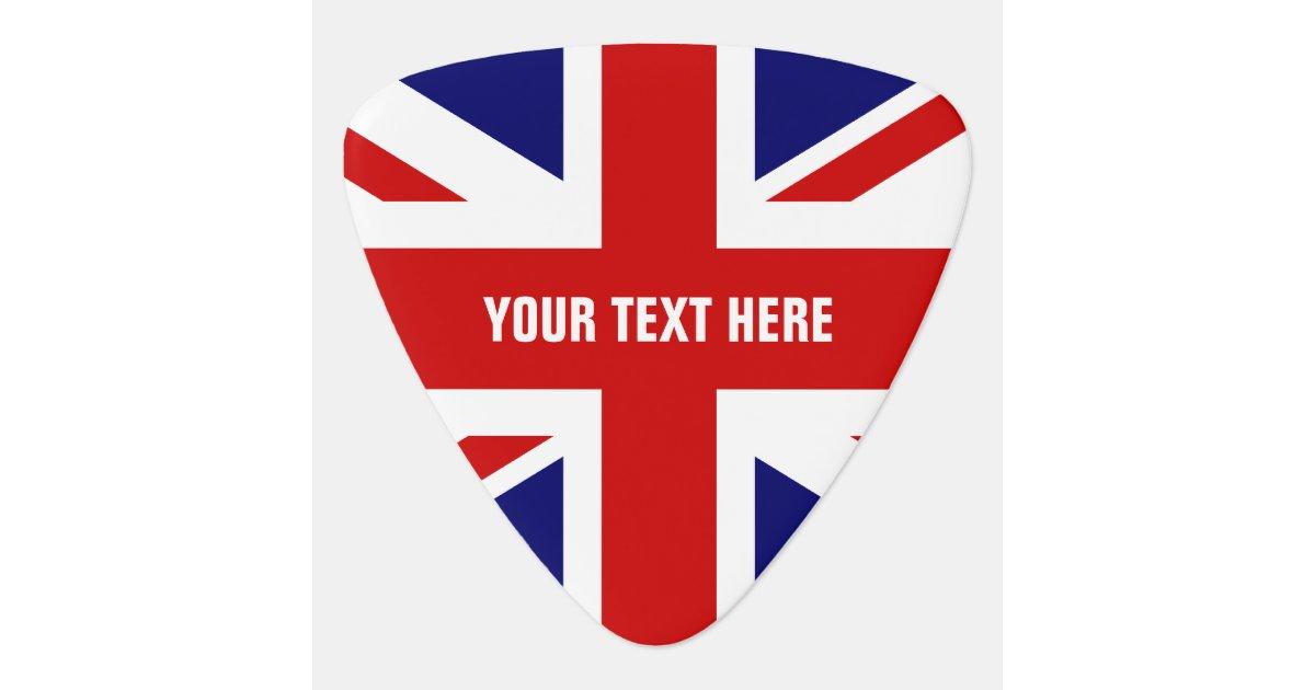 British flag guitar pick | Personalized Union Jack | Zazzle.com