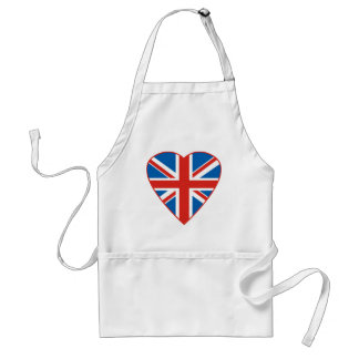 British Flag Heart Adult Apron