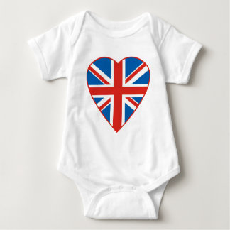 British Flag Heart Baby Bodysuit