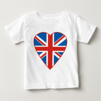 British Flag Heart Baby T-Shirt