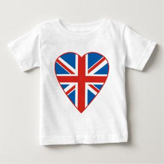 British Flag Heart Baby T-Shirt
