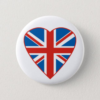 British Flag Heart Button