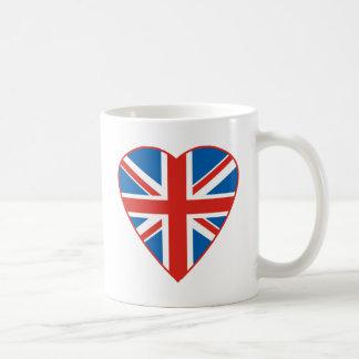 British Flag Heart Coffee Mug