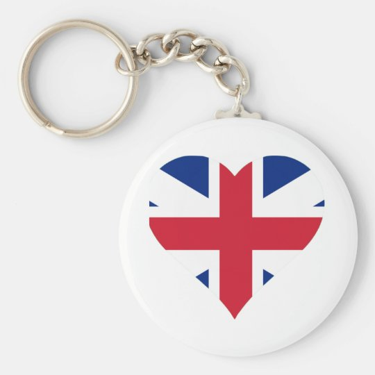 British Flag Heart Keychain
