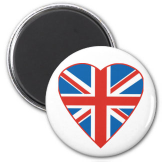 British Flag Heart Magnet