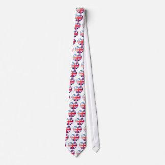 British Flag Heart Neck Tie