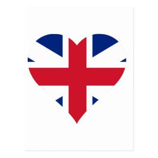 British Flag Heart Postcard