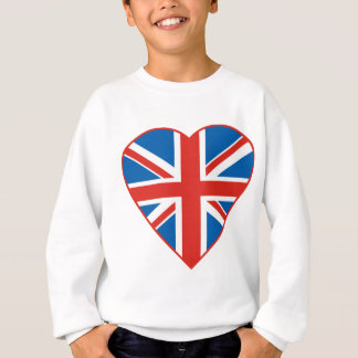 British Flag Heart Sweatshirt