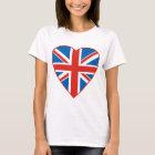 British Flag Heart T-Shirt