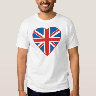 British Flag Heart Tee Shirt