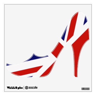 British Flag high heeled shoe wall decal
