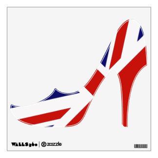 British Flag high heeled shoe wall decal