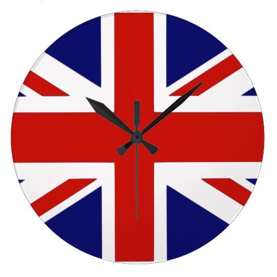 British flag large clock