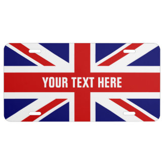 British flag license plate with Union Jack