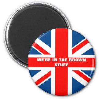 British flag 2 inch round magnet