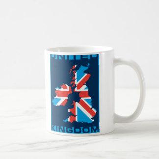 British Flag Map Classic White Coffee Mug