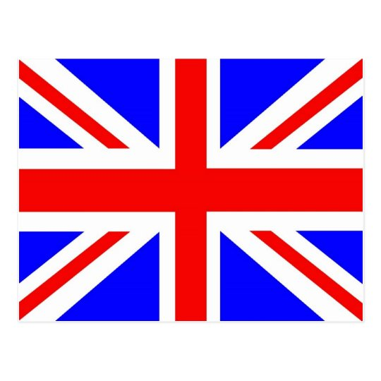 British flag merchandise postcard
