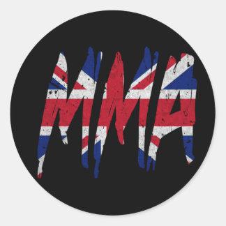 British Flag MMA Classic Round Sticker