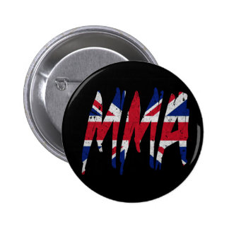 British Flag MMA Pinback Button