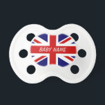 """British flag pacifier 