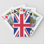 "British Flag Playing Cards<br><div class=""desc"">Show your true colors with this deck of premium British Flag playing cards. Each durable, semi-gloss card features the flag of the United Kingdom on the back. Made with patented casino quality paper and a color printing process that is second to none, these cards are a perfect way to add...</div>"
