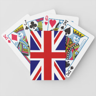 British flag playing cards   Union Jack design.